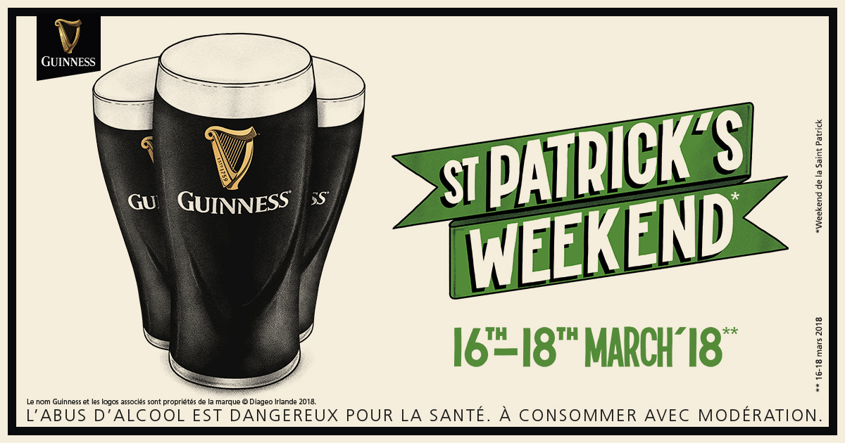 Weekend st Patrick - Oporsmeur - Guinness